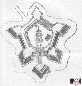 Бродівський замок XVIII ст. на гравюрі ХІХ ст.