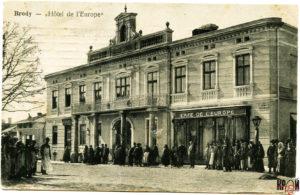 Готель «Європа» на поштівці поч. ХХ ст.