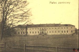 Палац Потоцьких сер. XVIII ст. на поштівці поч. ХХ ст.