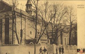 Костел Воздвиження Святого Хреста. Поштівка поч. ХХ ст.